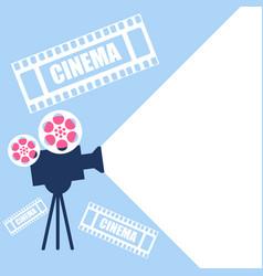 cinema projector in retro style flat design video vector image