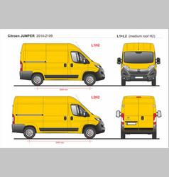 Citroen jumper cargo van l1h2 and l2h2 2014-2019 vector