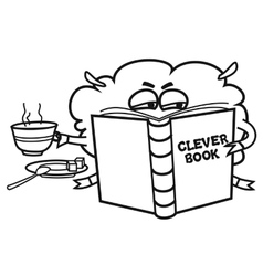 Clever book vector