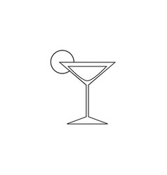 cocktail online of icon vector image