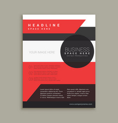 company business brochure template in red black vector image