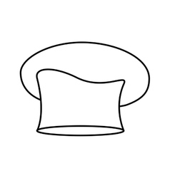 Contour of chefs hat oval vector