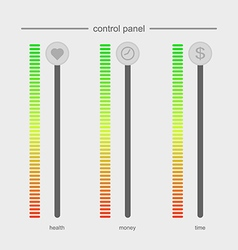Control panel design concept work and life vector