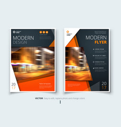 cover design for brochure flyer report catalog vector image