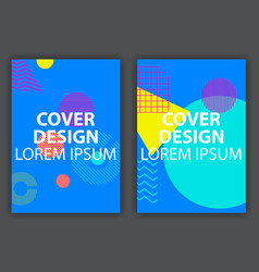 cover design poster with geometric elements in vector image