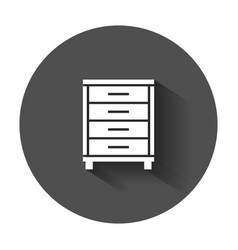 Cupboard icon modern flat pictogram for business vector