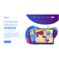 data driven marketing concept landing page vector image