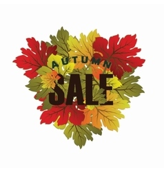 Decorative autumn card vector
