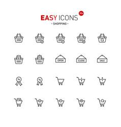 Easy icons 32a shopping vector