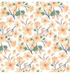 elegance floral summer or spring pattern template vector image
