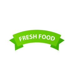 emblem fresh food sign for packages natural vector image