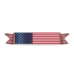 Flag ribbon united states of america vector