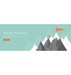 Flat mountaines mission vector