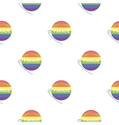 Gay parade icon cartoon pattern gay icon from the vector image