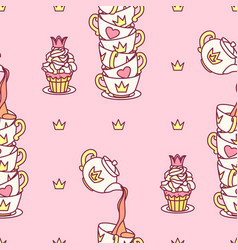 girlish seamless pattern vector image