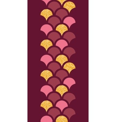 Gold glitter fish scale vertical border seamless vector
