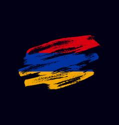 Grunge textured armenian flag vector