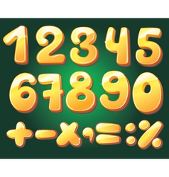 hand drawn numerals vector image