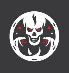 Human evil skull sign vector