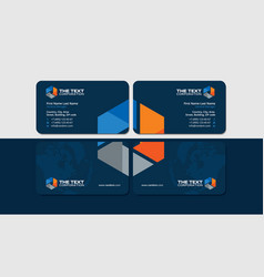 Industrial business cards vector
