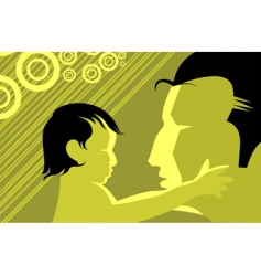 kid and man vector image