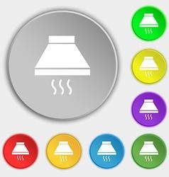 Kitchen hood icon sign Symbols on eight flat vector image