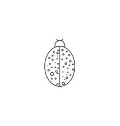 lady bug icon vector image