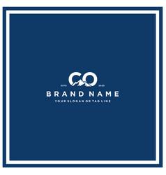 Letter co mountain logo design vector