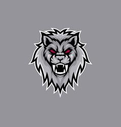 lion roars mascot logo vector image