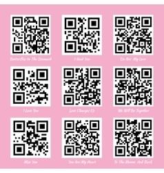 Love QR codes vector image