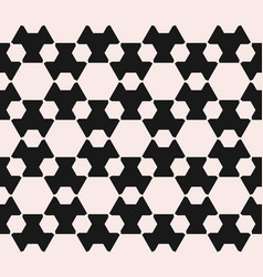 Monochrome seamless pattern with hexagon figures vector