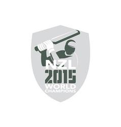 New Zealand Cricket 2015 World Champions Shield vector