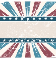 Old USA colors frame grunge vector