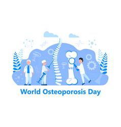 Osteoporosis world day concept osteoarthritis vector
