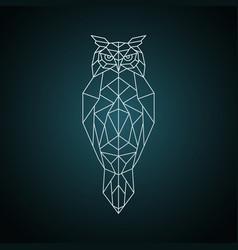 owl in geometric style wild bird vector image