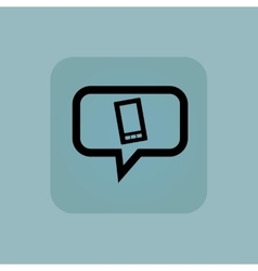 Pale blue smartphone message icon vector image
