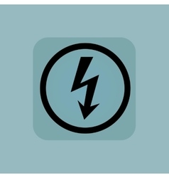 Pale blue voltage sign vector image