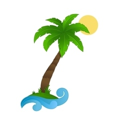 Palm tree on a white background vector image vector image