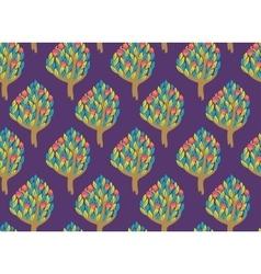 Pomegranate garden seamless pattern vector