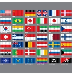 Popular Flags vector