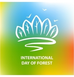 Poster International day of forest poster vector