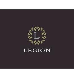 Premium monogram letter L initials logo Universal vector