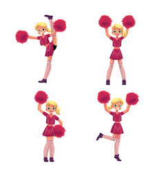pretty blond girl in cheerleader uniform with vector image