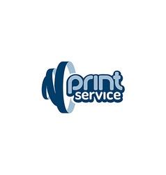 Print service logo vector