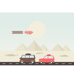 Pyramid travel vector