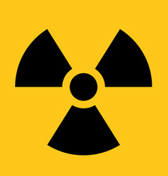 radioactive material sign symbol of radiation vector image