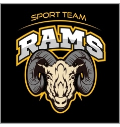 Rams logo for a sport team vector