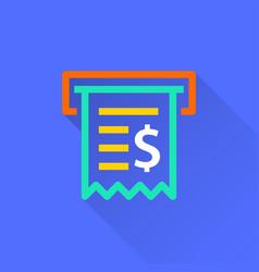 receipt - icon vector image