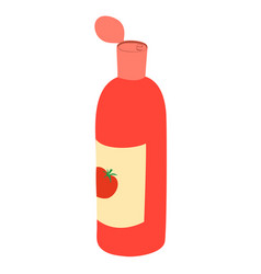 Red ketchup bottle vector