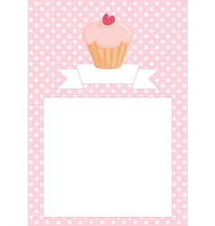 Restaurant menu wedding card list or baby shower vector image